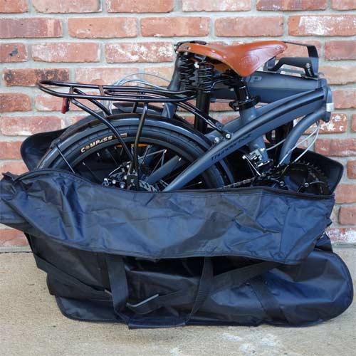 Bolsa de transporte para bicicleta de color negra