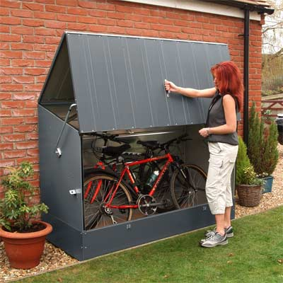 Trimetals - Cobertizo de metal para bicicletas