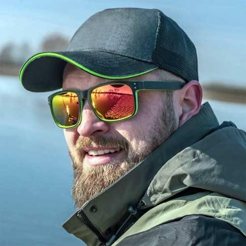 Gafas polarizadas para pescar con lente de color amarillo o ambar
