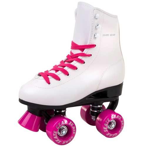 Skate Gear - Patines para botas de piel sintética, diseño retro, para interior y exterior