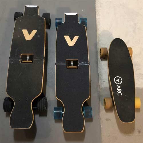 Skates Eléctricos Tamaño