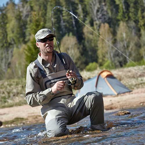 vadeadores de pesca transpirables