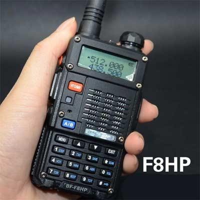 LFYN BaoFeng BF-F8HP (UV-5RT) 8 vatios de Doble Banda de Radio de Dos vías (136-174MHz 400-520MHz VHF y UHF) Incluye Kit Completo con batería de Gran tamaño