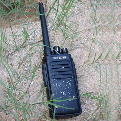 Retevis RT81 DMR Walkie Talkie Digital 32 Canales IP67 Impermeable Alta Potencia Two Way Radio con Batería de Alta Capacidad de 2200mAh (Negro, 1 Par)